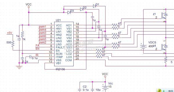 有关ir2136三相igbt驱动芯片的pspice仿真与应用电路讨论(仿真篇)