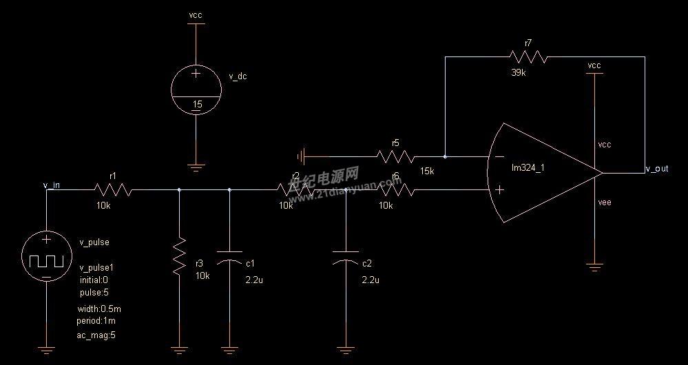 一个单片机输出的占空可变的5V脉冲波,我想经过RC滤波再经LM324放大后输出0---10V的直流电压。电路如下  我用Saber仿真了一下,此电路的幅频和相频BODE图如下  因单片机设定的PWM频率是1K,所以我重点看F=1K时的幅度增益,如图是增益G=-60.522 这是不是就是说20*LOG(X)=-60.522 从而推出 X=0.