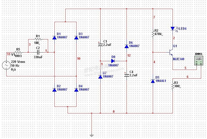 我的阻容降压电路,pf为什么只有0.04左右?-led/照明