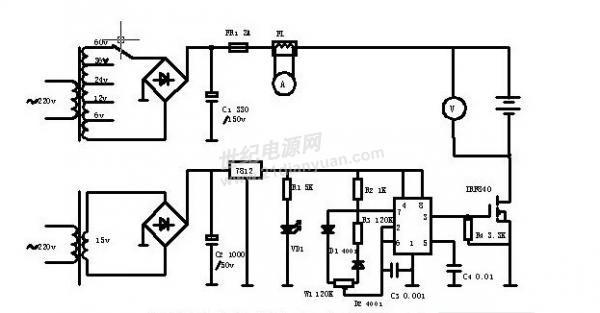 谁有铅蓄电池修复器的电路图