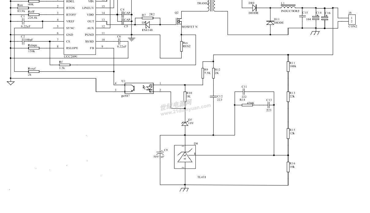 我采用的UCC2891芯片做的有源钳位正激式电源 输出是以L6562做的PFC输出基本在400V左右 要求输出120W 36V 现在我算出的匝比N=5.5 实际算出初级匝数为Np=51.6取的52匝 次级匝数Ns=9.4实际取得9匝 占空比算出最大Dmax=0.52 Dmin=0.47 设定的电感量达到了 12mH左右 检测电阻用的两个0.