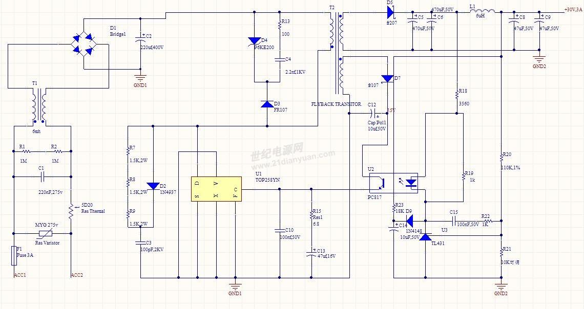 3.       tl431和光耦组成的反馈电路参数应该怎么改呢?