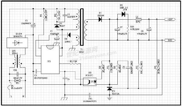多谢这是电路图,ic是rm6203
