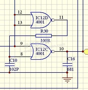 请问锁相环cd4046的输出可以直接接到uc3875的同步端17脚给3875提供