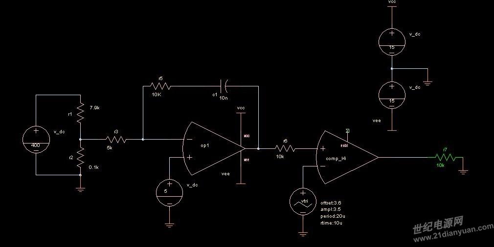 下面这个电路 要怎么修改才能输出一个  100khz  占空比 0.5 的方波?