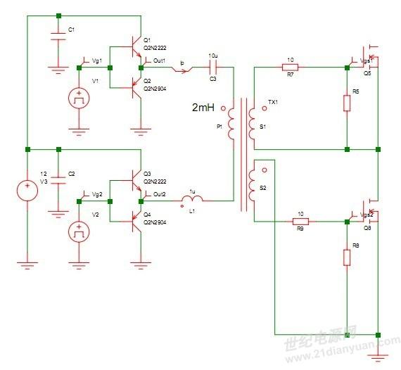 求助:全桥电路simetrix仿真的问题