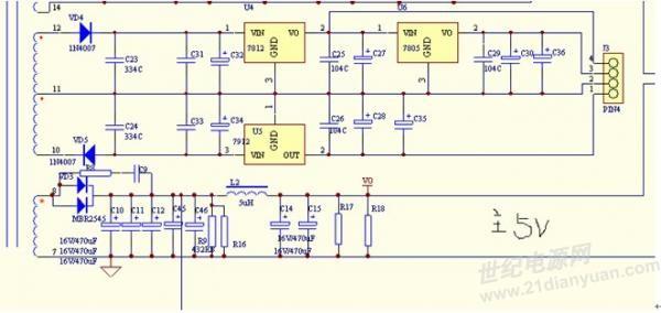 220v7805稳压器电路图
