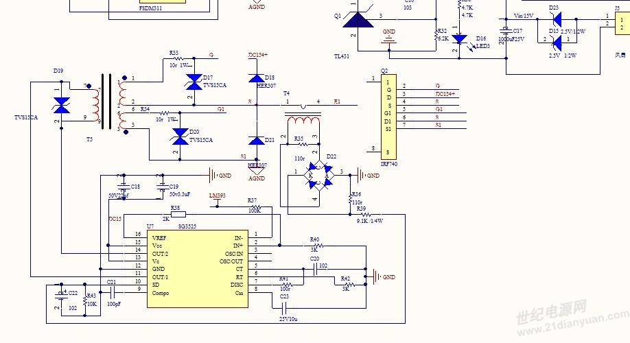 sg3525半桥开关电源求解?