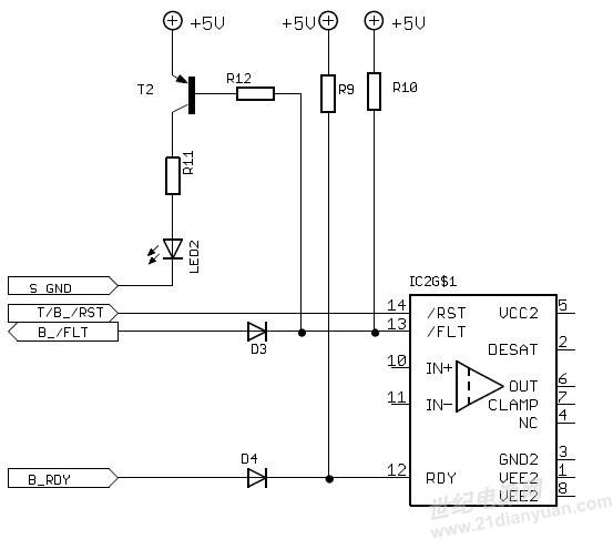 7温度测量  这两个类型的模块嵌入了内置的ntc热敏电阻,igbt驱动板