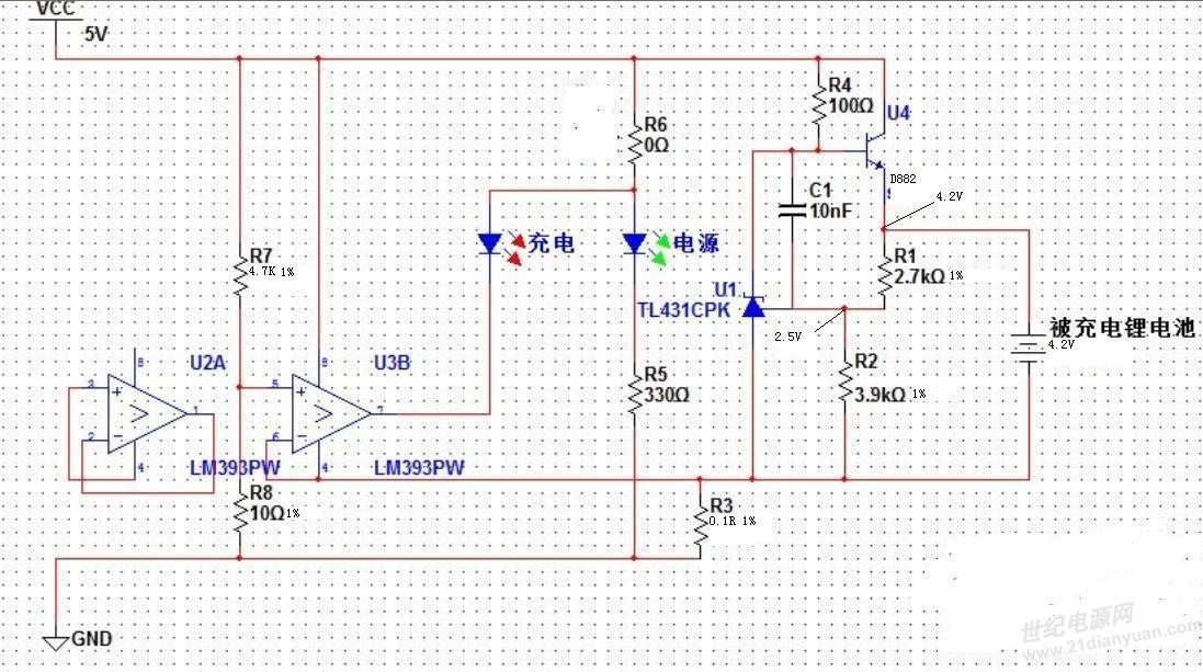 关于lm393 d882 tl431手机电池座充电路电流小3.7v只有100ma分析