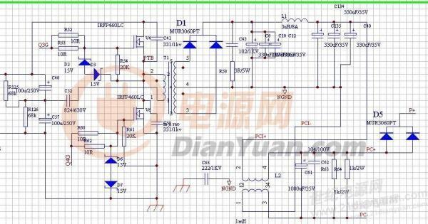 半桥高压管发热,原边波形异常,原理图如下