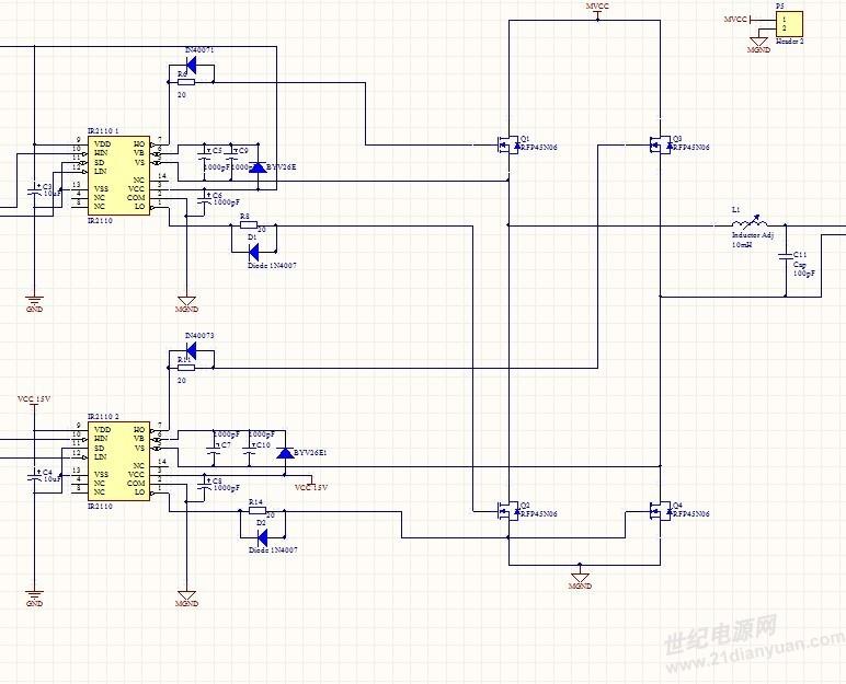 ir2110 驱动输出和滤波问题