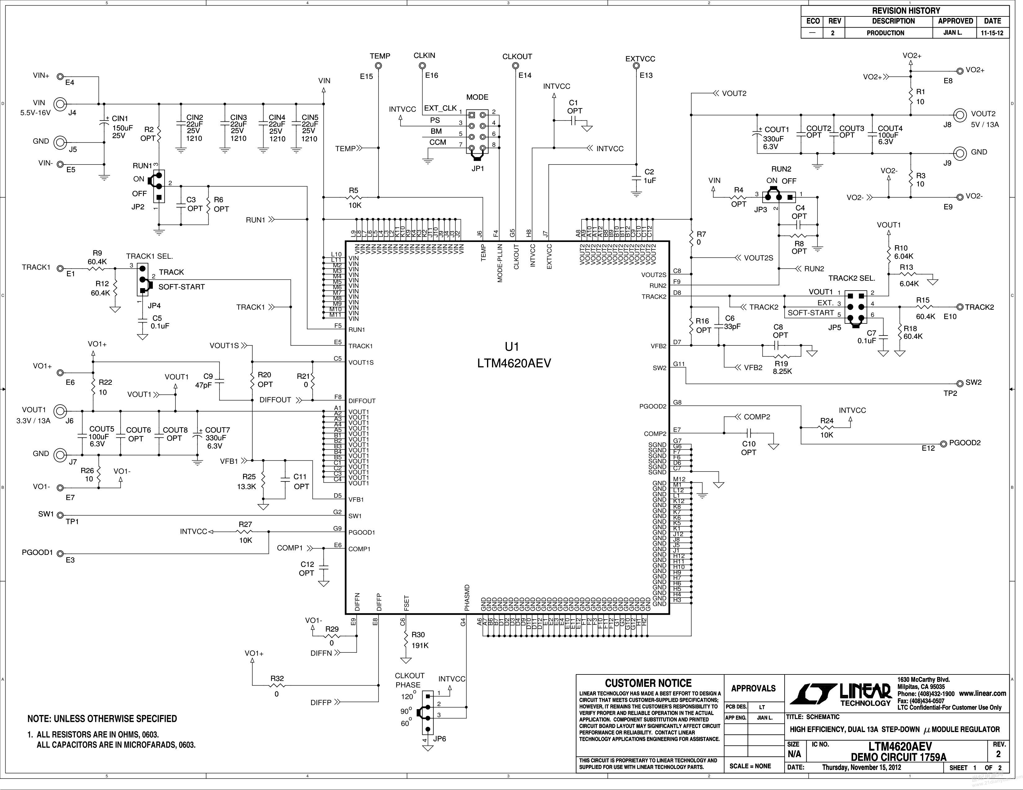 求助 用ltm4620a做降压电路