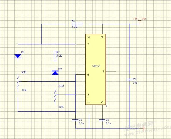 求基于ne555,占空比和频率分别可调的电路图