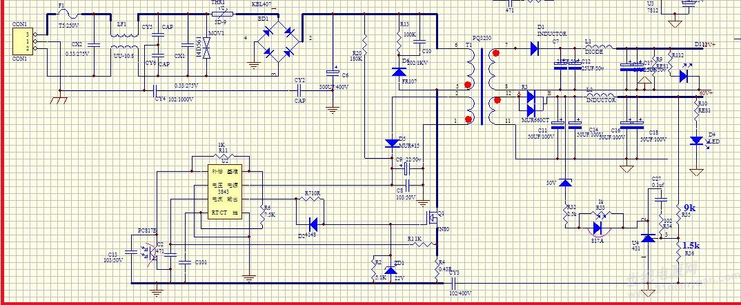 东方:当然。 楼主:现在反馈环用的30V稳压管+431+光耦。输出是24V左右;将稳压管换成12V的,输出仍然是12V。 东方:这是不正常的!  东方:24V时,431的控制端R计算的分压值是3.4V,而12V时的R点计算电压是1.7V,这是真的吗?稍加判断就知道,这些都是不正常的。 楼主:俩个状态下,流过光耦电流非常小,微导通状态, 东方:以稳压管30V,输出24V为例分析,如果R点确实是3.