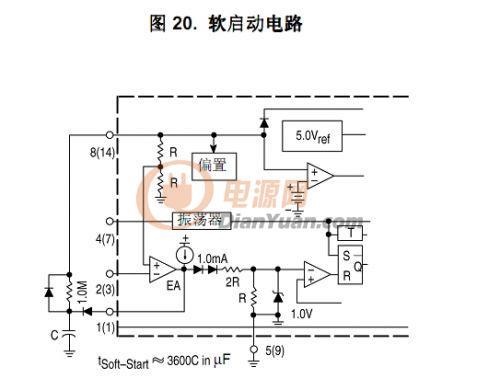 反激3843软启动电路 原理,参数选择