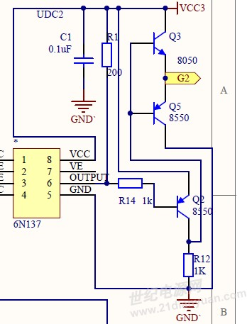 s8050与s8550构成的驱动电路饱和状态设置