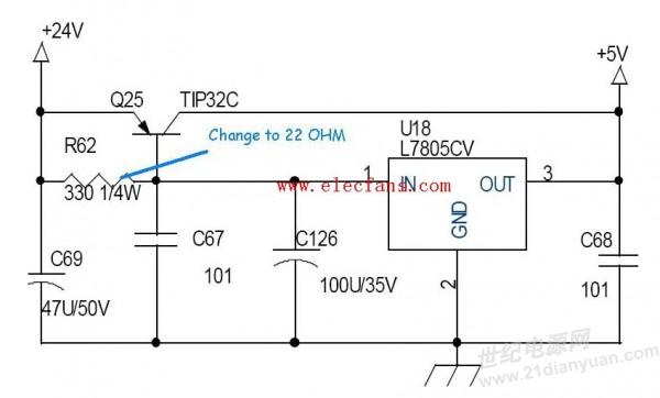 lm7912扩流稳压电路图